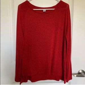 Old Navy Red Luxe Long Sleeve